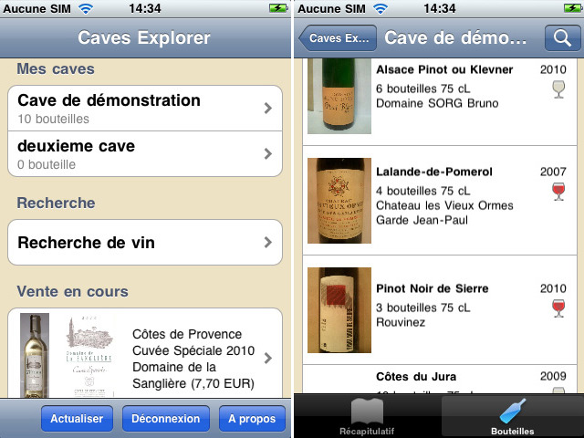 caves explorer fonctionnalit s logiciel pour g rer ses caves vins. Black Bedroom Furniture Sets. Home Design Ideas