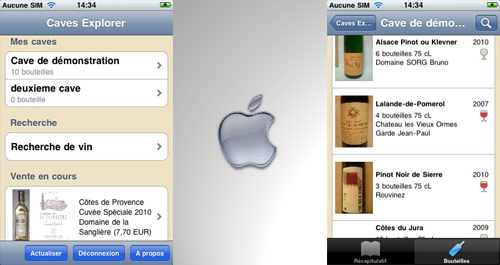 Manage your cellar on iPhone