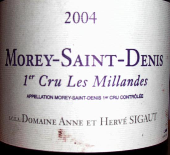 Morey-Saint-Denis Premier Cru  Les Milandes