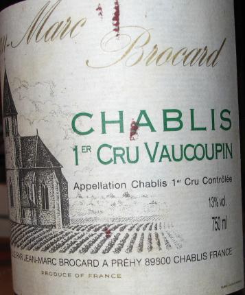 Chablis Premier Cru Vaucoupin