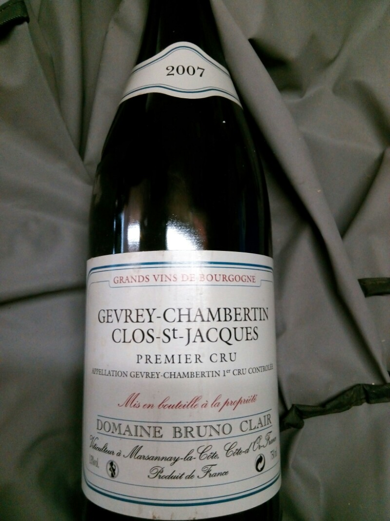 Gevrey-chambertin Premier Cru Clos St Jacques