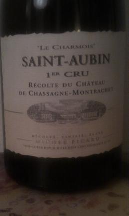 Saint-Aubin Premier Cru  Le Charmois