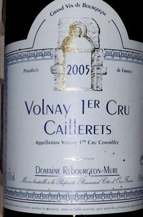 Volnay Premier Cru  Les Caillerets