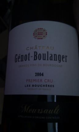 Meursault Premier Cru  Les Bouchères