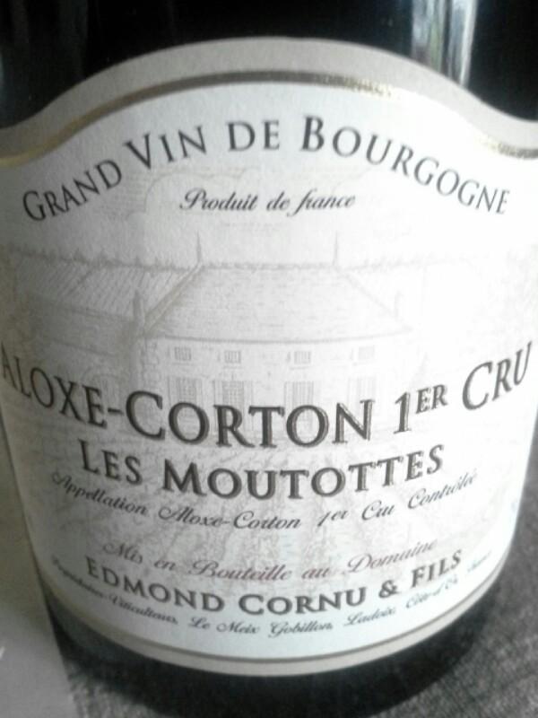 Aloxe-Corton Premier Cru Les Moutottes
