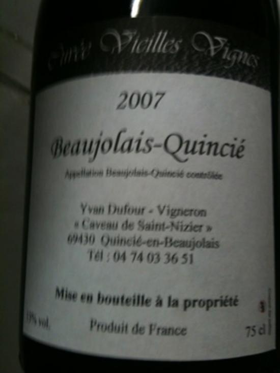Beaujolais Quincié