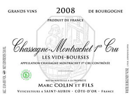 Chassagne-montrachet Premier Cru Vide Bourse