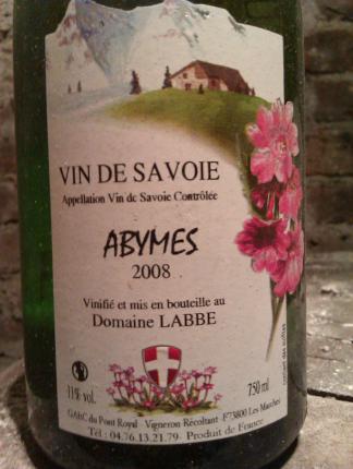 Vin-de-Savoie Abymes