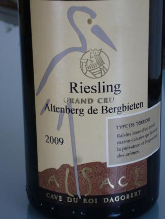 Alsace Grand Cru Altenberg de Bergbieten