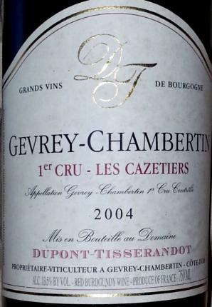 Gevrey-chambertin Premier Cru Les Cazetiers