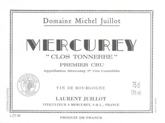 Mercurey Premier Cru  Clos Tonnerre