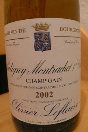 Puligny-Montrachet Premier Cru  Champ Gain