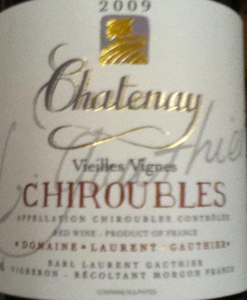 Beaujolais Chiroubles
