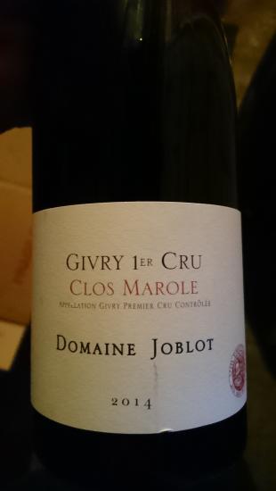 Givry Premier Cru  Clos Marole