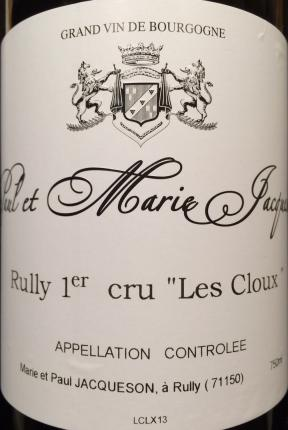 Rully Premier Cru  Cloux