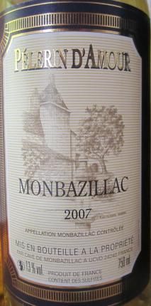 Caves explorer monbazillac p lerin d 39 amour cave de monbazillac blanc moelleux - Chambre d amour vin blanc ...
