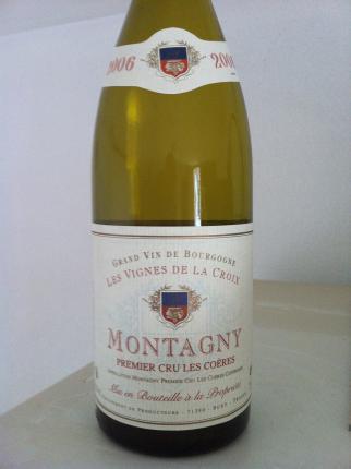 Montagny Premier Cru  Les Coeres