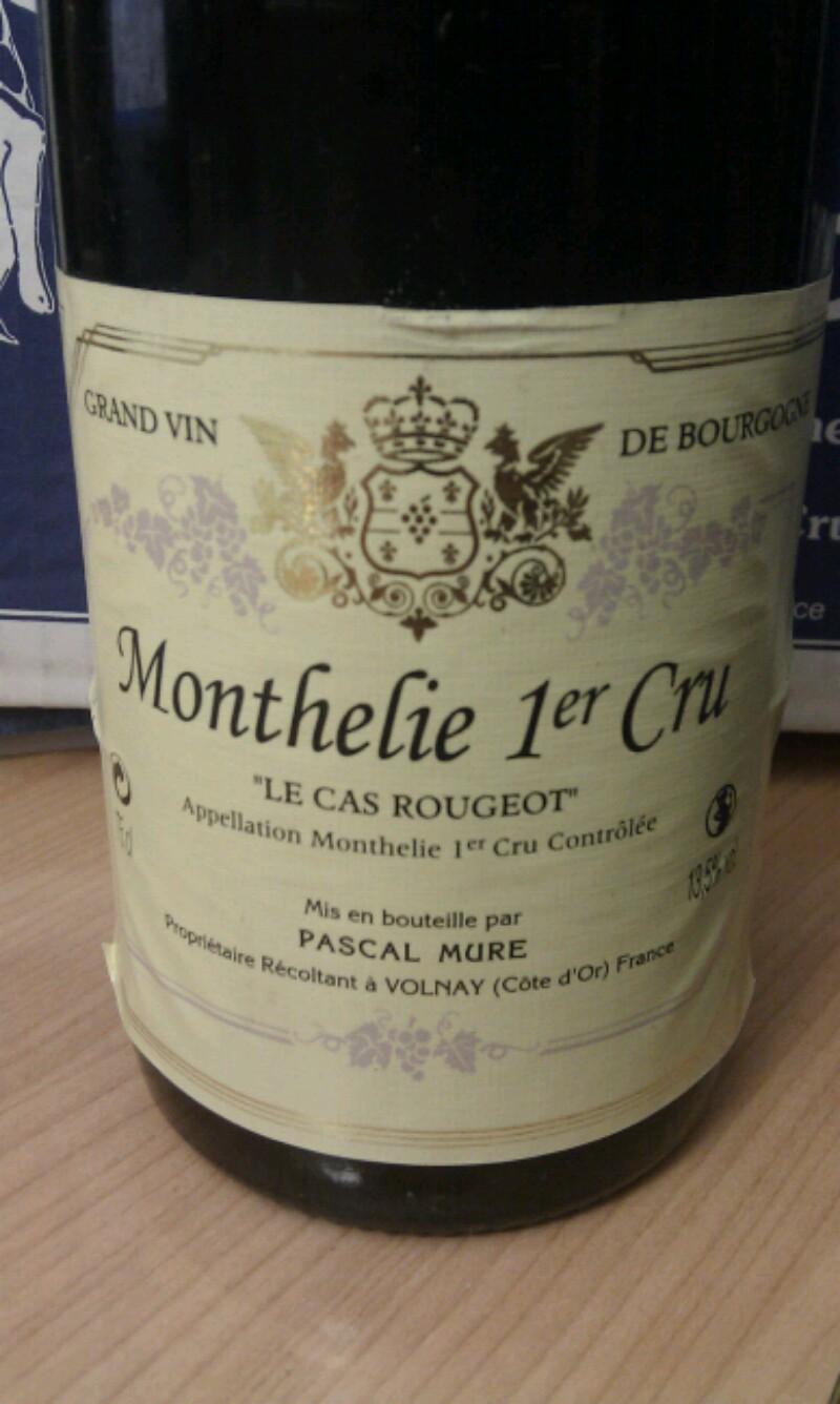 Monthelie Premier Cru  Le Cas Rougeot