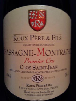 Chassagne-montrachet Premier Cru Clos St Jean