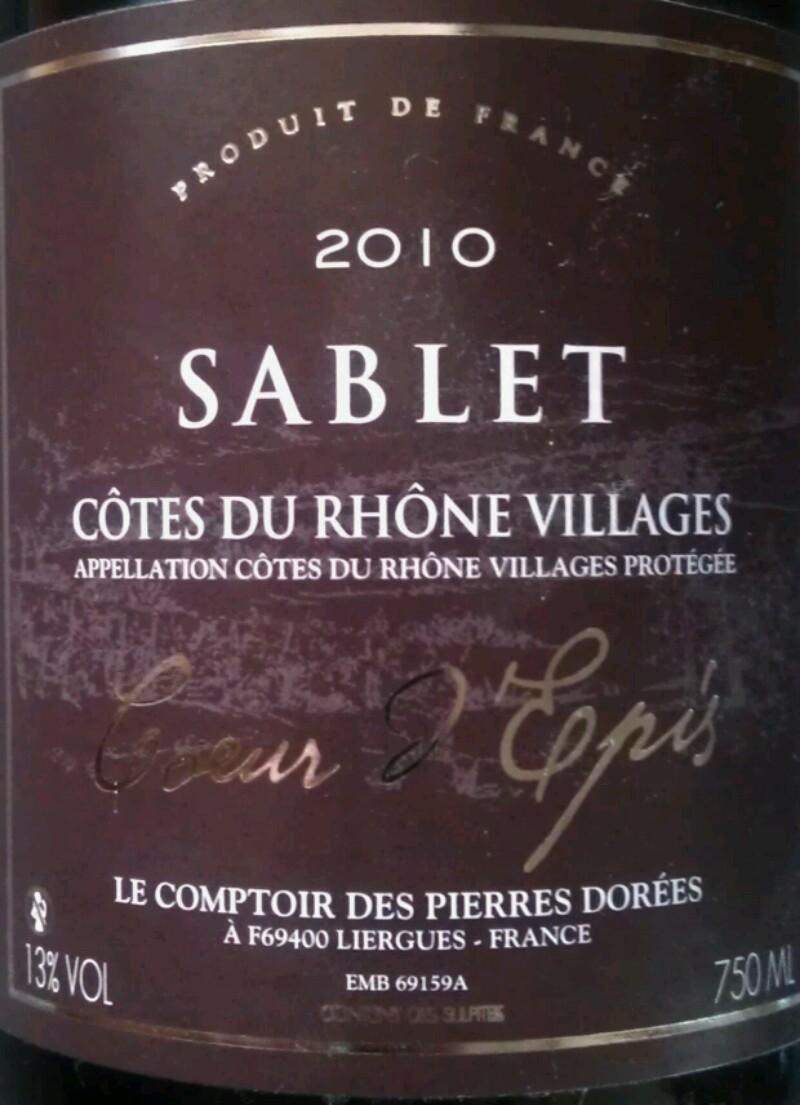 Côtes-du-Rhône-Villages Sablet