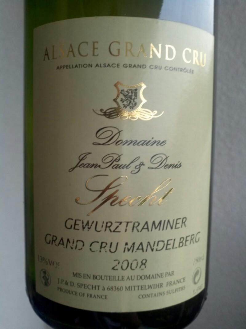 Alsace Grand Cru Mandelberg