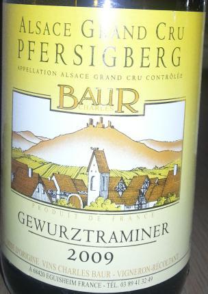 Alsace Grand Cru Pfersiberg