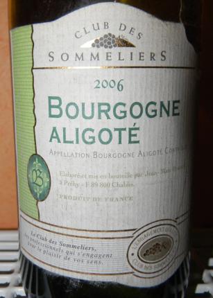 Bougogne Aligoté