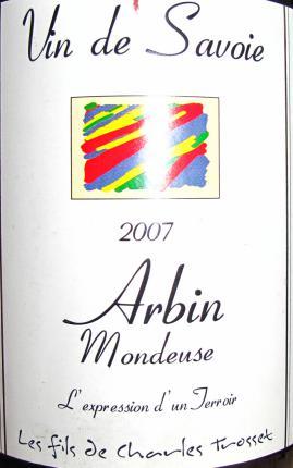 Vin-de-Savoie Arbin