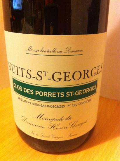 Nuits-Saint-Georges Premier Cru  Clos des Porrets Saint-Georges