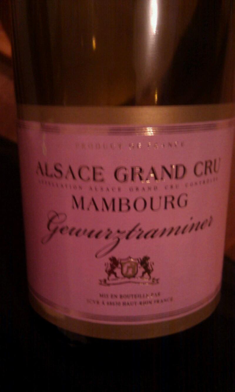 Alsace Grand Cru Mambourg