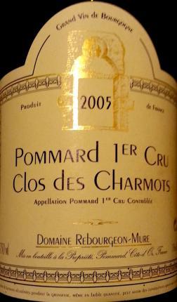 Pommard Premier Cru  Les Charmots