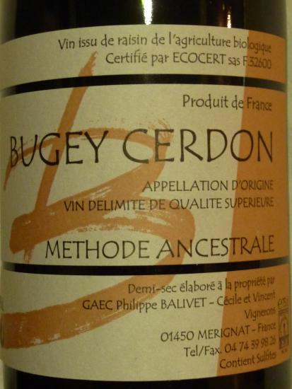 Vin du Bugey Cerdon