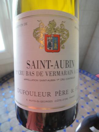 Saint-Aubin Premier Cru  Bas de Vermarain à l'est