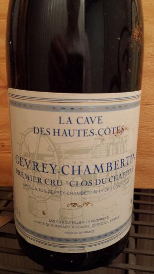 Gevrey-chambertin Premier Cru Clos du Chapitre