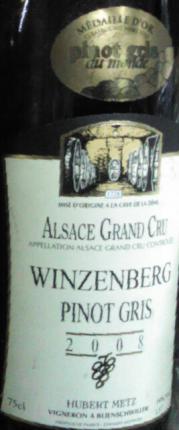 Alsace Grand Cru Winzenberg