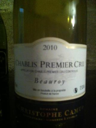 Chablis Premier Cru Beauroy